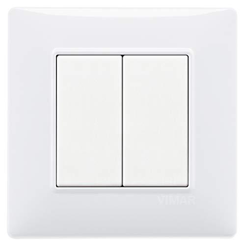 VIMAR 0K03925.04 Plana Kit comando connesso, senza fili e senza batteria, VIEW Wireless standard Bluetooth completo di supporto, tasti, placca 2M, Bianco