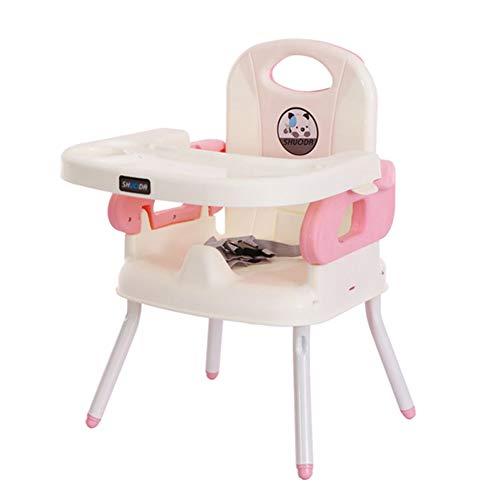 Chaises hautes Rehausseur De Siège D'appoint Sain, Réglable Multifonctionnelle De Pliante pour Enfant en Bas Âge (Couleur : Pink)