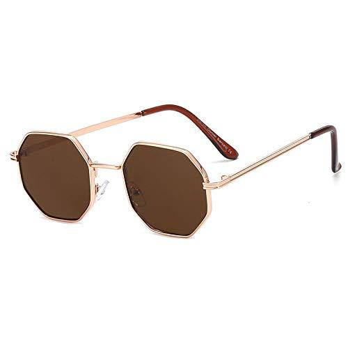 Sonnenbrille Herren Polygon Sonnenbrille Männer Vintage Octagon Metall Sonnenbrille Für Frauen Luxusmarke Brille Sonnenbrille Damen Roségold