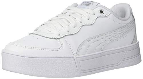 PUMA Skye, Zapatillas para Mujer, Blanco Plata Gris Violeta, 42 EU