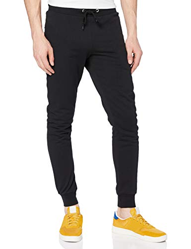 FM London Hyfresh Slim Fit, Pantalon de sport Pantalon de sport Homme, Noir (Black 01), Large