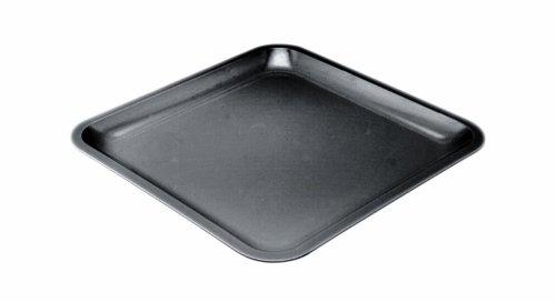 Zak Designs 0015- 0310E Assiette carrée 26cm Noir Seaside mélamine