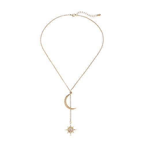 Stars Moonlight Diamond Colgante colgante elegante Simple Mejor Cuello Accesorios Cuello Cuello Cuello Cuello