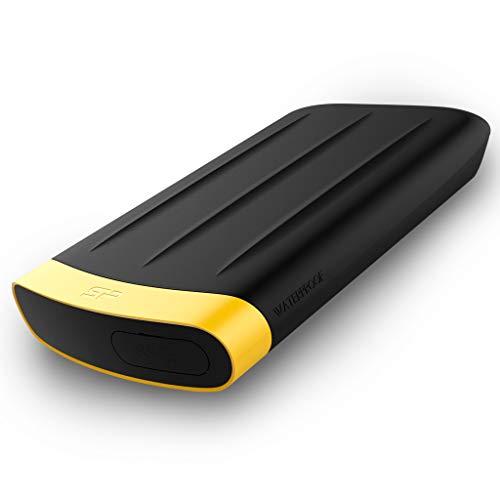 """Silicon Power Rugged Armor A65 - Disco Duro Externo portátil de 1 TB, 2.5"""", USB 3.0, Military Grade IP67 S, Color Negro"""