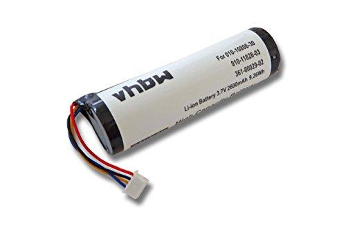 vhbw Batterie 2600mAh (3.7V) pour Collier GPS Navi pour Chien de repérage Navi Garmin Alpha GPS Pig Hunting Dog Tracking System, GAA003.