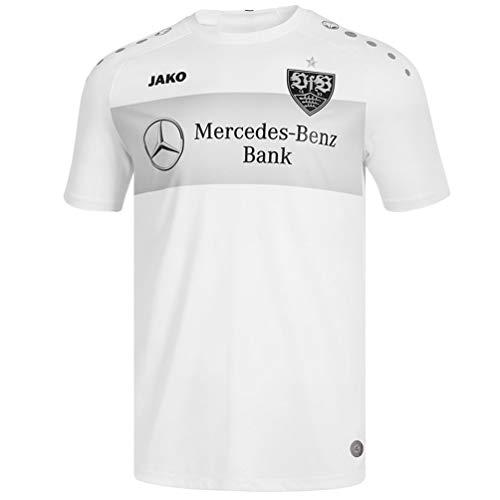 JAKO Erwachsene VfB Stuttgart Teamline T-Shirt, weiß, XL