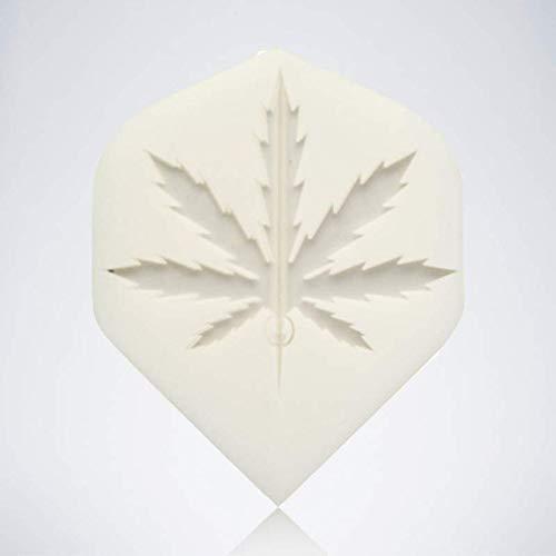 myDartpfeil Weiße Standard Dart Flights | Hanfblatt aus Kunststoff | 3er Flight Set | Dartpfeil Flyer