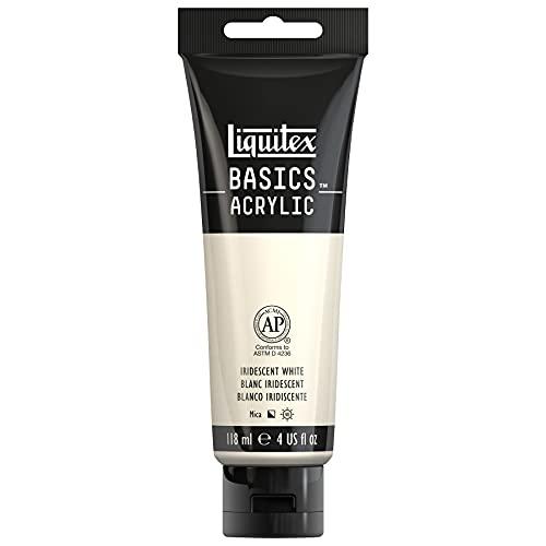 Liquitex BASICS Acrylic Paint, 4-oz tube, Iridescent White