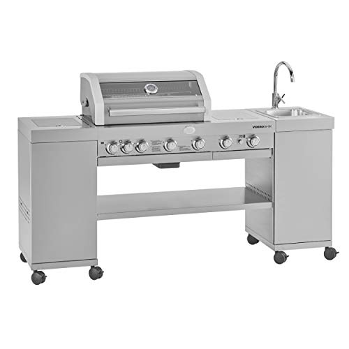 Rösle 25323 RÖSLE BBQ-Kitchen Videro G4-SK Gasgrill Edelstahl