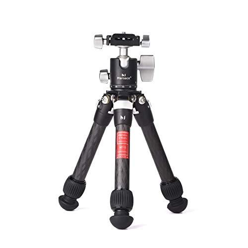 Marsace MT-5 Tischstativ, Mini-Schreibtisch-Reisestativ aus Aluminiumlegierung mit 360-Grad-Kugelkopf und Schnellwechselplatte, leicht und tragbar für Kompaktkameras, DSLRs, Handy, GoPro