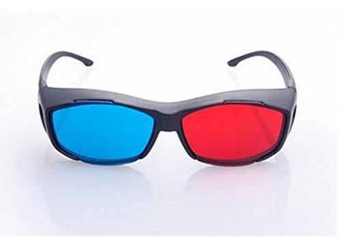 homiki gafas 3d simple rojo y azul de alta calidad para la 3d anaglifo para Camera Película Visualización de DVD o lectura entretenimiento