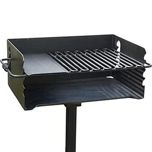 Pilot Rock Heavy-Duty Jumbo Steel Park-Style Charcoal Grill -24 1/4in. x 16 1/8in. Model Number CBP-247