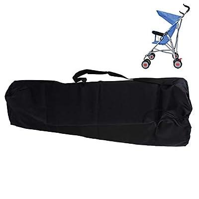 Universal-bolsa cochecito, bolsa de transporte para carritos, carteras bandolera impermeable ligero almacenaje organización carritos con, para avión, viaje, coche, Outdoor-negro