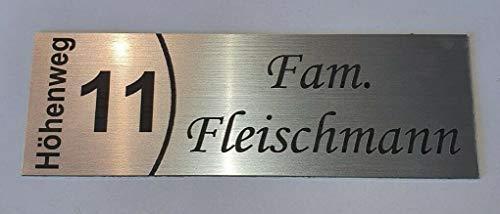 Klingelschild Türschild Briefkastenschild Namensschild Straße Hausnummer Klebend