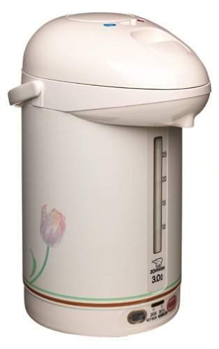 Zojirushi CW-PZC30FC Micom 3.0-Liter Electric Air Pot, White