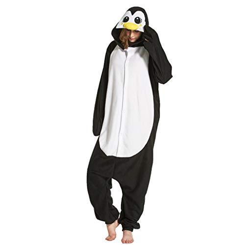 WANGLXPA Weicher Pinguin Onesie Jumpsuits Halloween Kostüm Pyjama Oberall Hausanzug Kigurum Schlafanzug Kostüme, XL