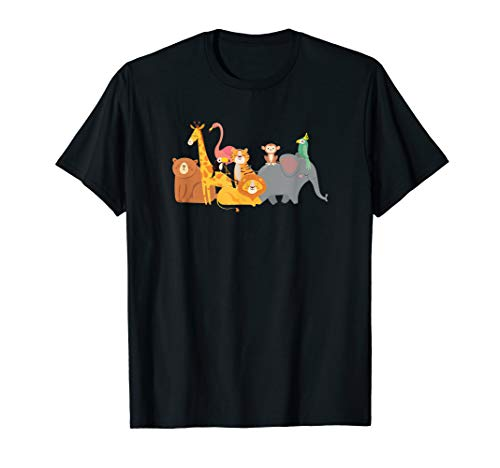 Safari Wild Animals Africa Jungle Zoo Animal Gifts And Desig T-Shirt