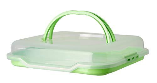 Gies XL Partybutler Transportbox mintgrün Kuchenbehälter LxHxB ca. 38,5 x 9,5 x 46 cm - Ihr Partycontainer für Feste, Geburtstage, Feiern und andere Anlässe