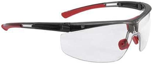 North T5900WTK By Honeywell Adaptec Wide Safety Glasses With Translucent Black Polycarbonate Frame And Clear Polycarbonate...