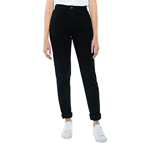 American Apparel Damen High-Waist Jeans, schwarz, 25W x 32L