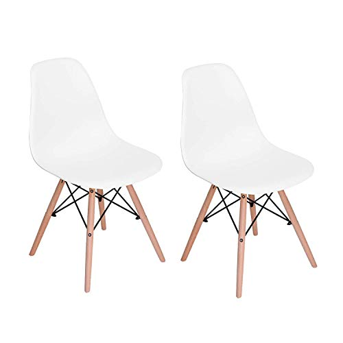 silla blanca patas madera de la marca Gran Shopping