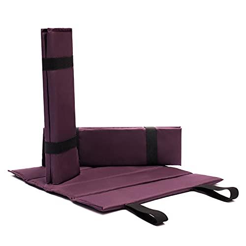 Canopy Outdoor Iso Sitzkissen wasserfest Zum Wandern 38х35х1cm Camping Isomatte faltbar Farbe violett Kleine & Dünn Sitzpolster Sitzunterlage für Kinder Unterwegs Ultraleicht Isoliermatte