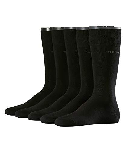 ESPRIT Herren Socken Uni 10er Pack, Größe:40-46;Farbe:Black (3000)