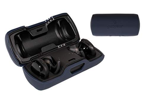 Featured Protective Case for Bose SoundSport Truly Wireless Sport Headphones Charger Box (Midnight Blue Silicone)