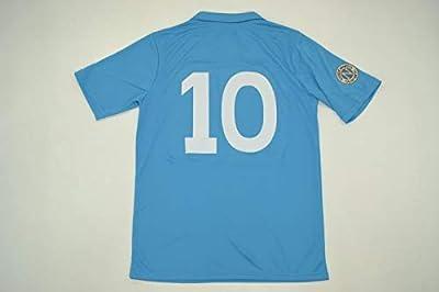 FM Diego Maradona#10 Napoli Retro Jersey 1987-1988 Blue Color (L)