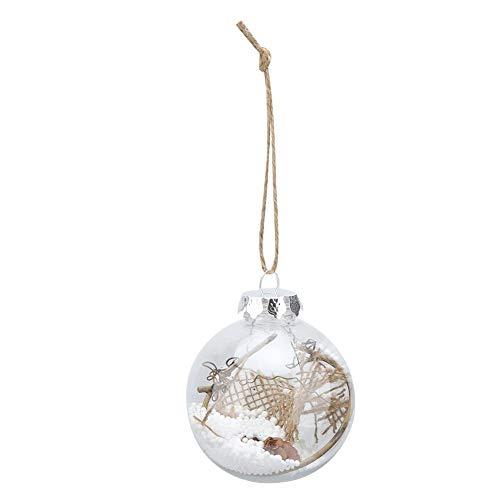 AUNMAS transparante kerstballen, 6-delige set, hangende versiering voor voordeur, ramen