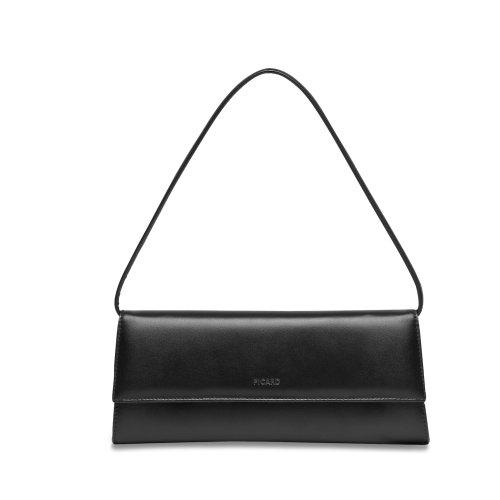 Picard Auguri 4022 elegante Nappa Leder Clutch Abendtasche klassisch schwarz, 26x11x3 cm (B x H x T)