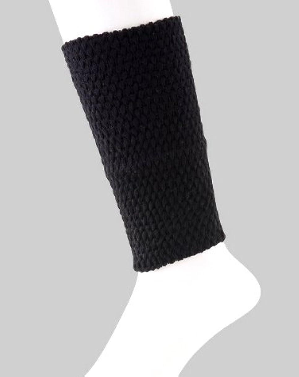 後退する加速する解釈する日本製 足首ウォーマー 表綿100% 二重構造で暖かい 春夏 冷房対策 20cm丈 (ブラック)