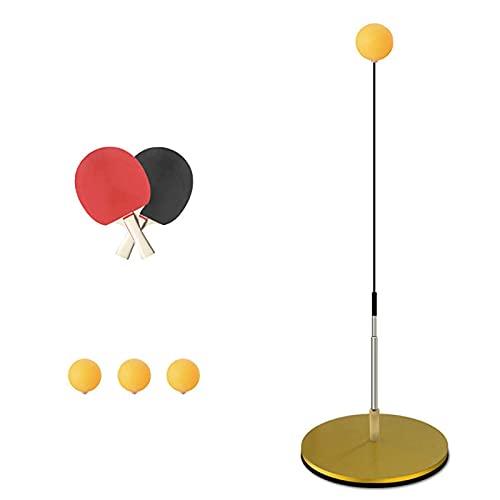 WENTING Juego de Tenis de Mesa portátil Entrenador de Tenis de Mesa, 90cm-105cm de Altura Ajustable 3 × Ping Pong 2 × Raqueta para prevenir la miopía Juguete de Entretenimiento Familiar