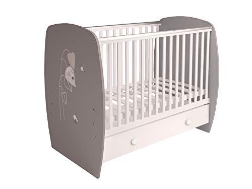 Polini Kids Babybett Gitterbett French Amis Grau-Weiß