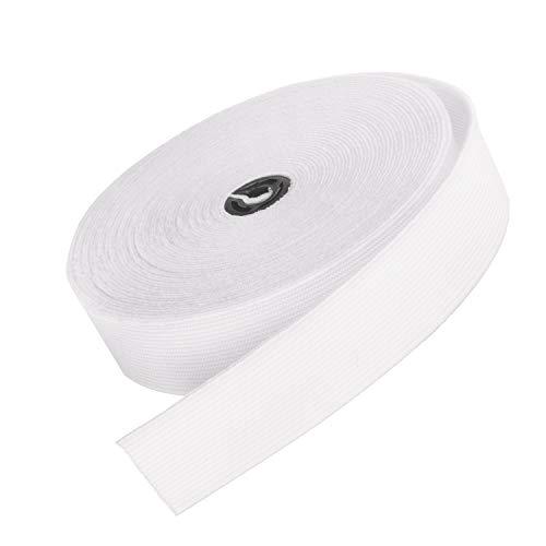 Large élastique plat Ceinture Bande pour couture x 6 mètre(Blanc, 20mm)