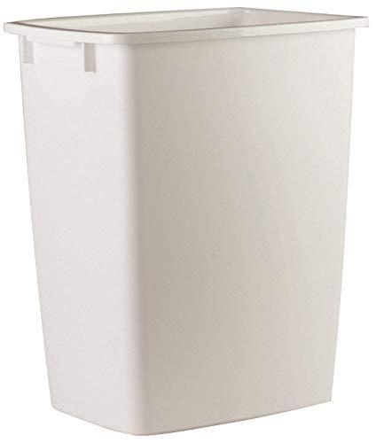 Rubbermaid 2806-TP-WHT Plastic Kitchen Wastebasket, White, 36-Qt. -...