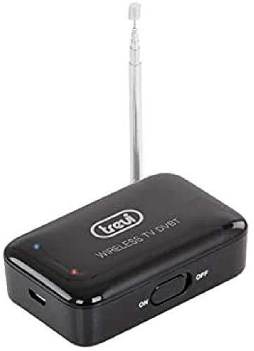 Trevi DT 327 TV Mini Decoder Wi-Fi DVB-T Wireless Senza Fili per Smartphone e Tablet Apple e Android, Antenna Telescopica Bidirezionale