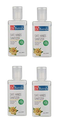 Dr Batra's Safe Hand sanitizer - 100ml (Pack of 4 Men and Women)