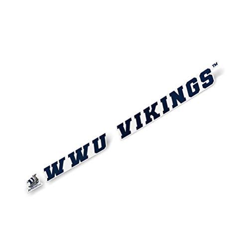Western Washington University WWU Vikings NCAA Name Logo Vinyl Decal Laptop Water Bottle Car Scrapbook (15 Inch Sticker)