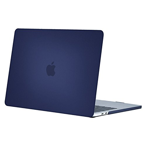 MOSISO MacBook Pro 15 Case 2019 2018 2017 2016 Release A1990 A1707, Plastic Hard Case Shell Cover Compatible with Macbook Pro 15 Inch with Touch Bar and Touch ID, Navy Blue
