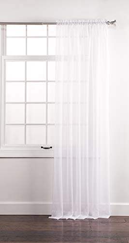 "Stylemaster Sheer Voile  Elegance 60"" X 108"", Panel White"