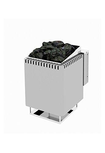 Sauna Po/êle /Électrique Harvia Cilindro PC90 9,0 kW acier inoxydable avec unit/é de contr/ôle encastr/é Taille de sauna: 8-14 m/³ Tension 400 V 3N ou 230 V 1N