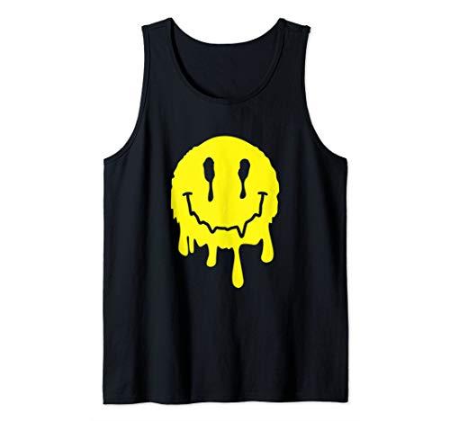 Funny Melting Acid LSD MDMA Smiley Face Tank Top