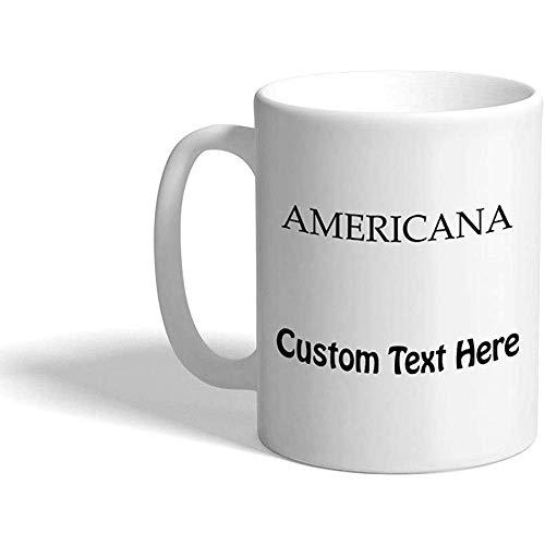 Gewohnheit Kaffeetasse 330 ml Americana-Kostüm-Mode-keramische Tee-Schale personalisierter Text
