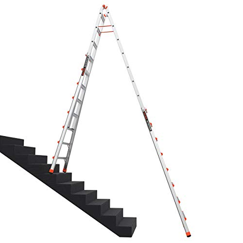 Little Giant Ladders, SkyScraper, M15, 8-15 foot, Stepladder, Aluminum, Type 1A, 300 lbs weight rating, (10109)