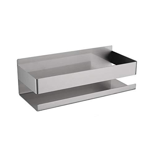 Lotu Organizador de ducha de acero inoxidable para baño, cesta adhesiva, organizador para colgar, a prueba de herrumbre, acabado cepillado, estante de baño sin perforar