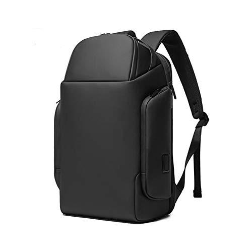 Jcnfa- Mochila empresarial para portátil de 15,6 pulgadas , Resistente al agua, con mochila de viaje de carga con puerto USB , Mochila ligera para hombre , Práctica bolsa para sombrilla lateral, 2 col