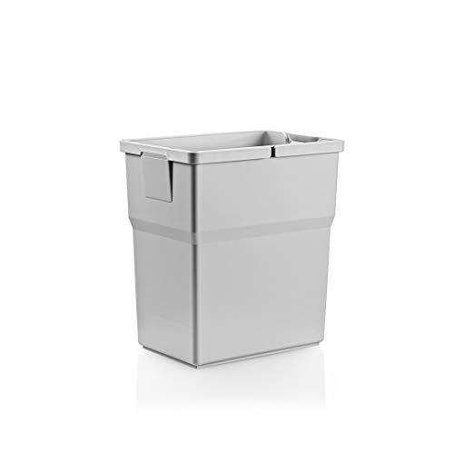 RONIN Furniture Fittings® ELCO CASE Select Abfallbehälter Abfallsammler, Mülleimer 18 Liter H=350 / B=221 / T=220 mm, in 2 Farben erhältlich (Quarzgrau)