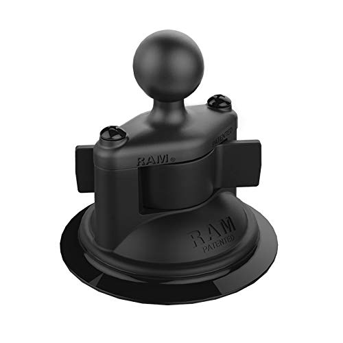 """RAM Mounts Twist-Lock Composite Suction Cup Base with Ball RAP-B-224-1U with B Size 1"""" Ball"""