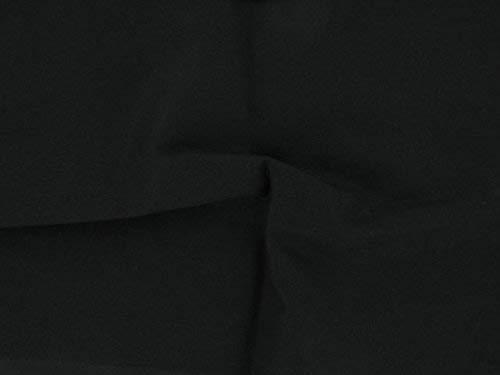 Dalston Mill - Tela de algodón 100%, algodón, negro, 1 m